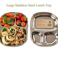 Eco lunchbox Stainless Steel Lunch Tray